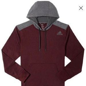 Adidas Men's Ultimate Pullover Hoodie-Climawarm